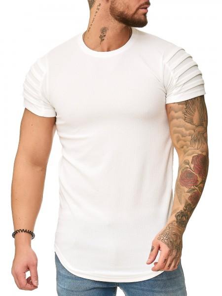 OneRedox T-Shirt col rond pour homme Sweat à capuche à manches longues et manches longues Sweat-shirt à manches courtes Modèle 3322