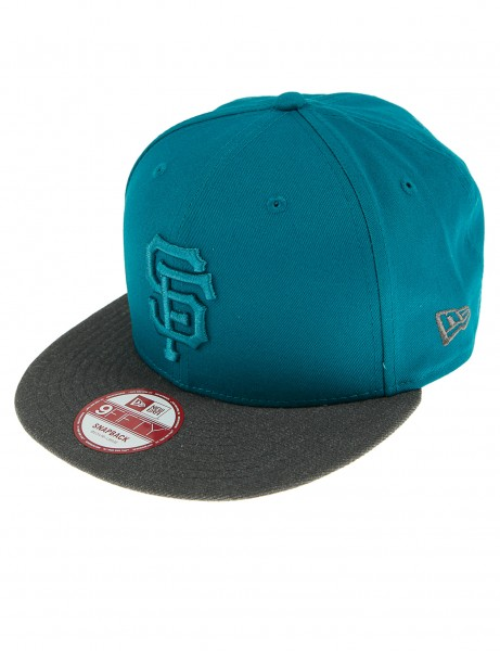 Nouvelle casquette de baseball Era 9fifty Cappy San Francisco Giants Turquoise Grey