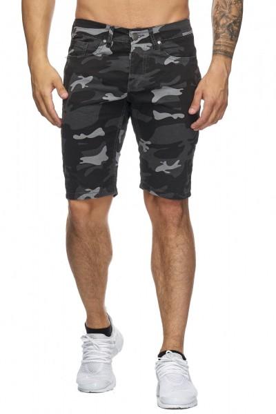 OneRedox Hommes Bermuda Shorts Bermuda Shorts Hommes Sport Shorts Casual Shorts Short Short Pantalon Cargo Pantalon court 4036 Camouflage Noir