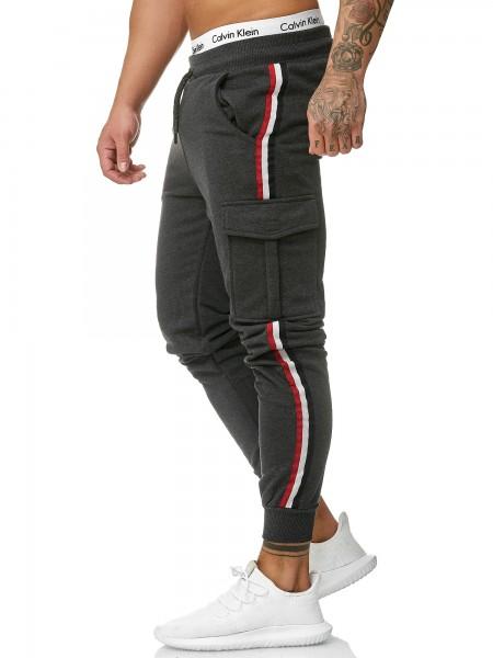 OneRedox Hommes | Pantalon de survêtement | Pantalon de survêtement | Pantalon de survêtement | Sport Fitness | Gym | Entraînement | Slim Fit | Sweatpants Stripes | Pantalon de jogging | Modèle 1318