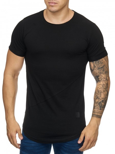 OneRedox Chemise pour homme Sweat à capuche à manches longues Chemise à manches courtes Sweatshirt T-Shirt 9020