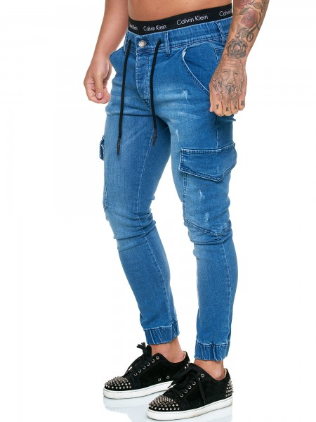 OneRedox Designer Jeans Pantalon Jeans Homme Pantalon Jeans Regular Skinny Fit Pantalon Jeans Basic Stretch Model j-8008