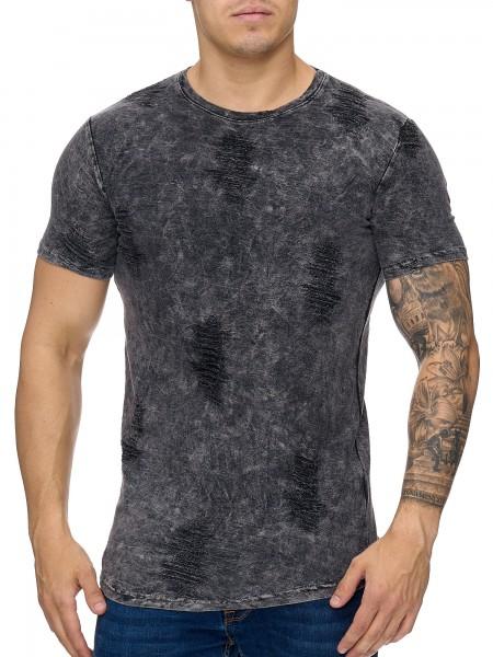 OneRedox Chemise pour homme Sweat à capuche à manches longues Chemise à manches courtes Sweatshirt T-Shirt 979