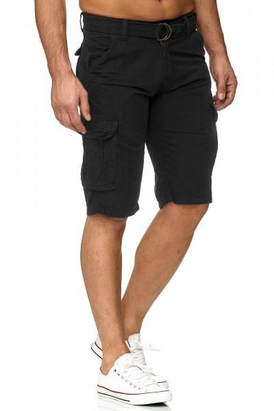 OneRedox Hommes Cargo Shorts Short Short Pantalon court Bermuda Short Summer Cargoshort incl. Belt