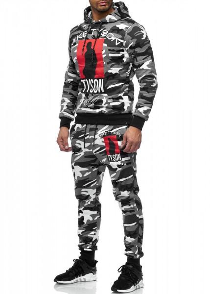 OneRedox Costume de jogging pour homme en costume de sport modèle 979 Camouflage